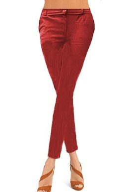 Dark Red Coloured Skinny Jeggings|online|