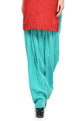 Full Cotton Aqua Green Patiala Salwar|buy|bottom|online|