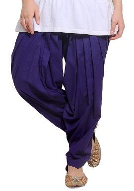 Full Cotton Purple Patiala Salwar|online|bottom|
