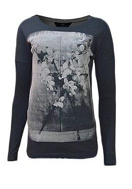 Gas Black Floral Printed Tee online tee buy 