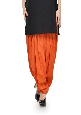 Orange Full Cotton Patiala Salwar|online|buy|