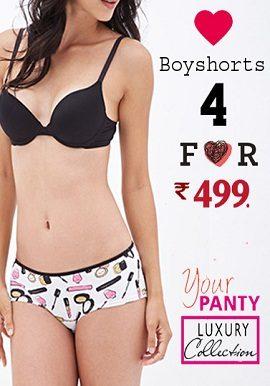 Pack Of 4 Cotton Boyshort |buy|online|
