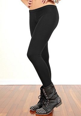 Soleil Black Coloured Legging |onliine|