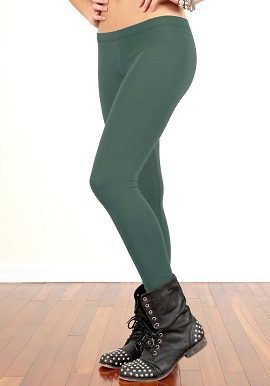 Soleil Green Coloured Legging |bu