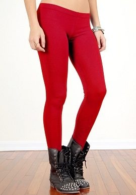 Soleil Red Coloured Legging |online|