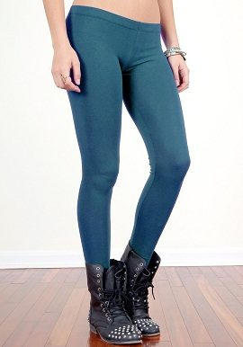 Soleil Sea Blue Coloured Legging |buy|