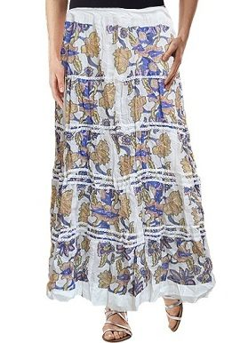 White Floral Printed Skirt |buy|online|India|best|