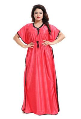 Women's Dark Pink Kaftan Style Nightgown