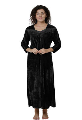 Women's Soft & Comfortable Black Nightgown