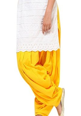 Yellow Full Cotton Patiala Salwar|online|bottom|