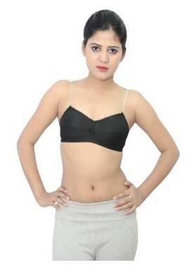 Cotton Comfy Non Padded Transparent Strap Bra (PK Of 2)