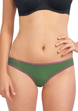 Smooth Cotton Plain Green Thong |India|online|