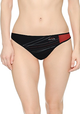 Women's Simply Basic Microfiber Black Thong |online|India|
