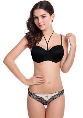 Sexy Women's Lace Padded Wired Push Up Bra snazzyway.com