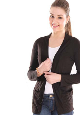 women solid Black shrug snazzyway.com