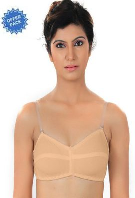 Cool Creamy Transparent Strap Bra(Pk Of 2)