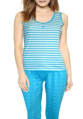 Smooth Cotton White Blue Nightwear Set |buy|