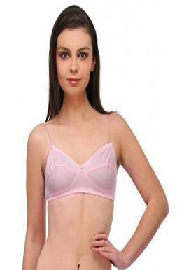 Women's Cool Soft Baby Pink Cotton Bra(Pk Of 2)