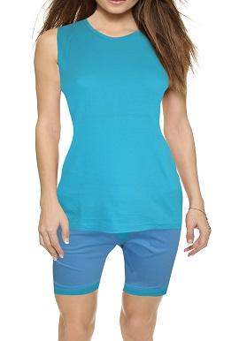 Women's Navigare Cool Aqua Blue Short Set