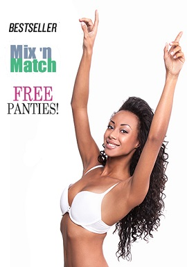 Bestseller White Push Up Bra Free Panties Mix N Match