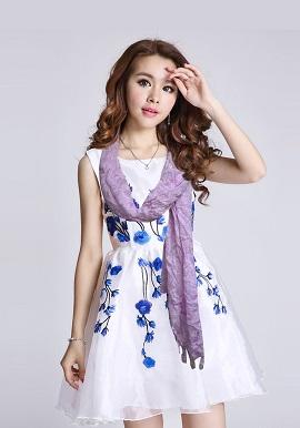 Cotton Light Purple Stole