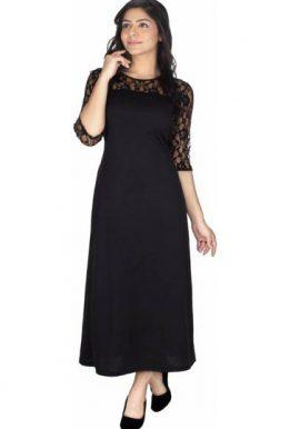 Fierce Lace Black Long Elegance Dress