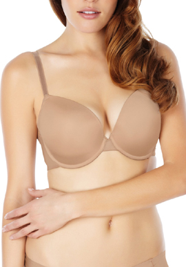 Hushh Luxury Beige Coloured Extreme Push Up Bra