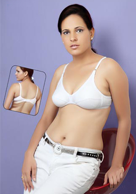 Perfect Fit Daily Wear White Bra Pack Of 2