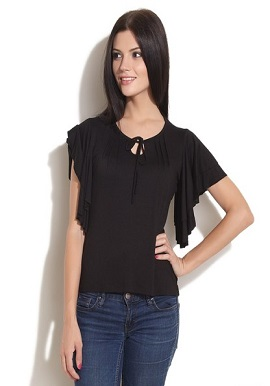 Remanika Cool Butterfly Black Top