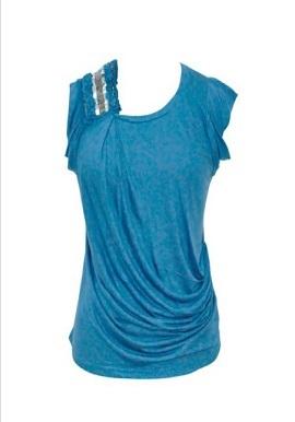 Remanika One Shoulder Embroidered Girls Top