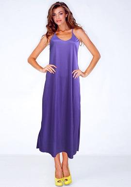Women's Comfy Purple Satin Nighty