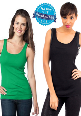 Combo Pack Of 2 Green Black Stretch Cotton Women Undershirts