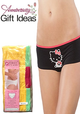 Hello Kitty Luxury Three Boyshort Gift Pack
