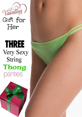 Sexy Valentine Day Gift - Three Luxury Double String Thong