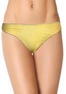 Women's Natural Yellow Plain Thong