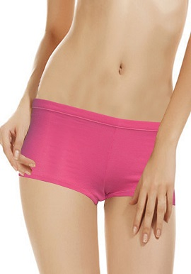 Women's Pretty Pink Comfort Plain Boyshort (Pk Of 2)