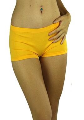 Hanes Yellow Cotton Soft Boyshorts Pk Of 2
