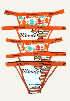 Minnie Print String Thong Wholesale Lot 5 Piece