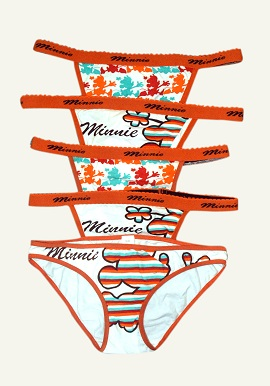 Minnie Print Wholesale Lot 4 Thong And1 Hipster