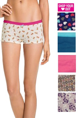 Wholesale Lot-5 Women's High Raise Cotton Boyshorts