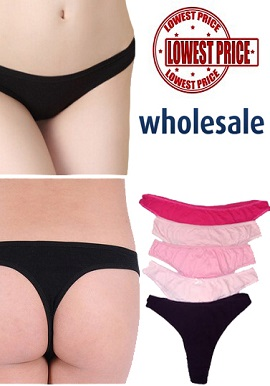 Wholesale Lot Cotton Thong 5 Piece