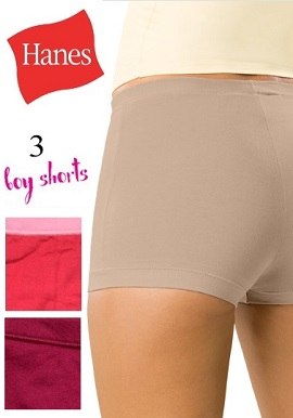 Hanes Women's Cotton Soft Boyshots Value Pack