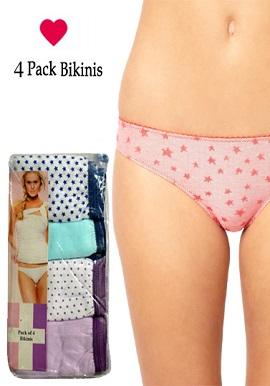 Cotton Stretch Bikini Panties