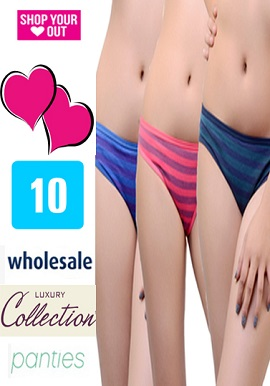 Wholesale Women's Comfort Cool Cotton 10 Panties Lot