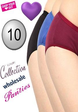 Women's 10 Cotton Comfy Panties Wholesale Lot