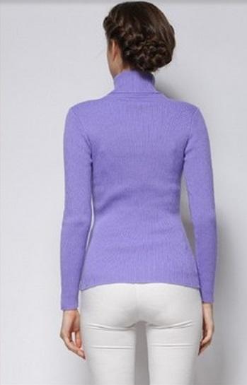 Women's Cool Lavender Turtle Neck Sweater 1