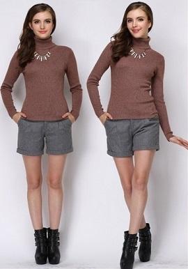 Women's Super Soft Woollen High Neck Sweater