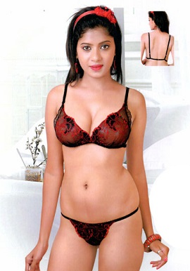 Crazy Transparent Thread Work Bra Set