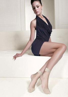 Ladies Fashion Silky Socks Beige Colour Ultra Thin