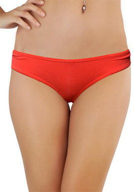 Red Colour Hi Cut Bikini Panty.